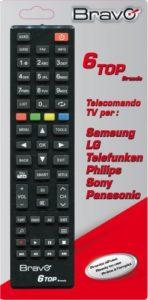 TELECOMANDO UNIVERSALE PER 6 MARCHE TV NON OCCORRE PROGRAMMAZIONE
